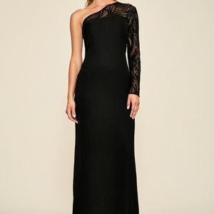 Tertia One-shoulder Crepe Gown